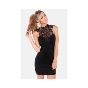 Lulus High Neck Lace LBD